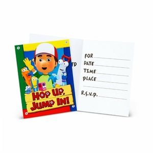 Handy Manny Pack Of 8 Party Invitations